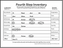 Printables Fourth Step Worksheets 4th step inventory worksheets davezan aa davezan